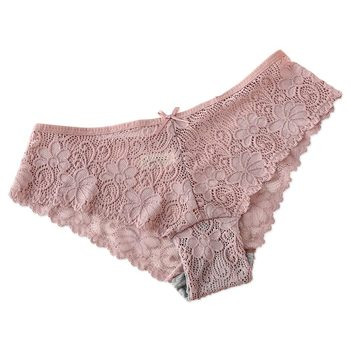 Sexy Lace Panties Women Underwear Hollowed-out Breathable low-Rise Cotton Briefs For Women Lingerie 2018 New Hot solid colors lace briefs panties new arrival low rise thin breathable sexy lace panties for women underwear black white rose red
