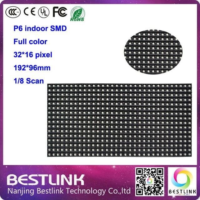 P6 SMD крытый полный цвет 192*96 мм 8 S светодиодный модуль 32*16 пикселей LED щитовые для p6 крытый rgb led экран видео привело кабинета доска