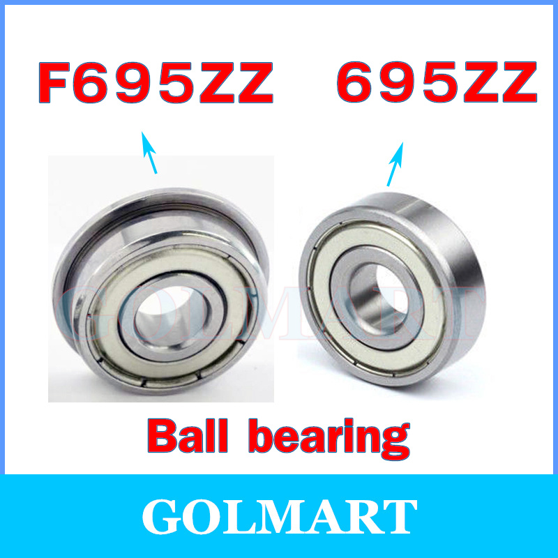 695ZZ  5*13*4  5x13x4mm Metal Shielded Ball Bearing Bearings 10 pcs