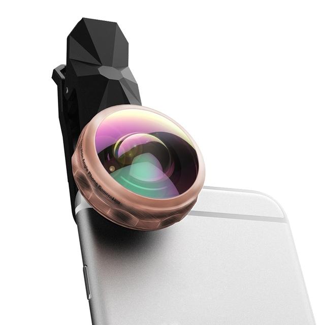 238 Grados HD Lente Super Gran Angular Anti-rasguño Del Teléfono Celular Kit de Lente de La Cámara para el iphone, Samsung, HTC, Teléfonos Inteligentes Android