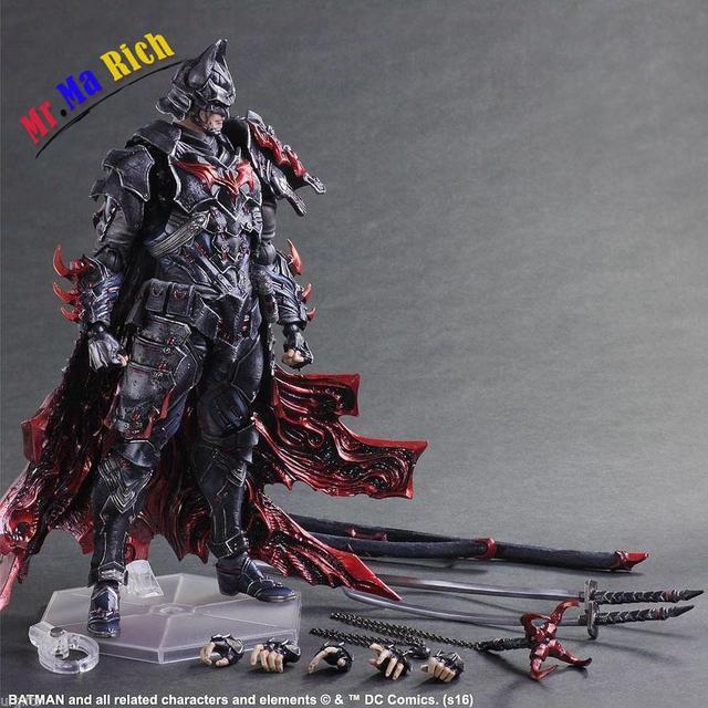 play arts kai batman samurai katana dark knight variable figure