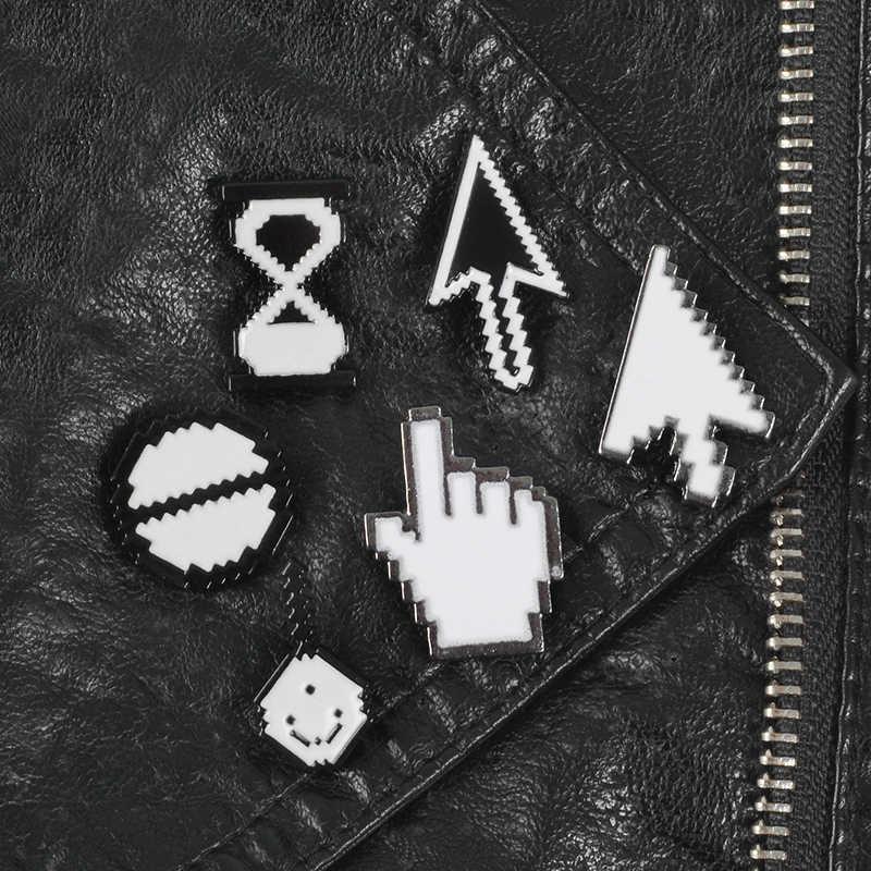 Cursore Spilli Del Computer Pixel I Cursori Giubbotti jeans Borse Cappelli Zaino Accessori Dei Monili Spilli collezione