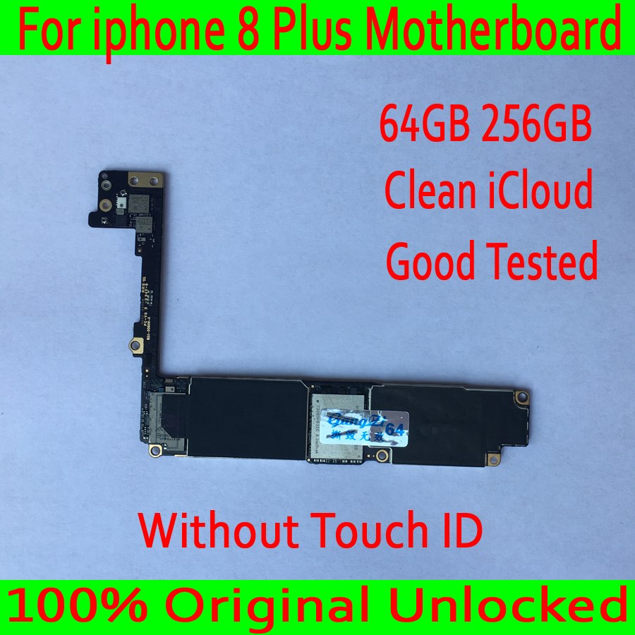 for iphone 8 Plus Motherboard without Touch ID, 64GB 256GB 100% Original unlocked for iphone 8Plus Logic board with Clean iCloudfor iphone 8 Plus Motherboard without Touch ID, 64GB 256GB 100% Original unlocked for iphone 8Plus Logic board with Clean iCloud