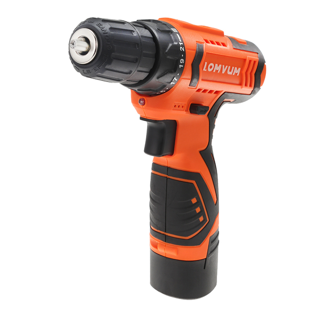 LOMVUM 12V Electric Drill Screwdriver Power dremel Tool Rechargeable Cordless drills Lithium-Ion Battery Screw Rotary Tool  2