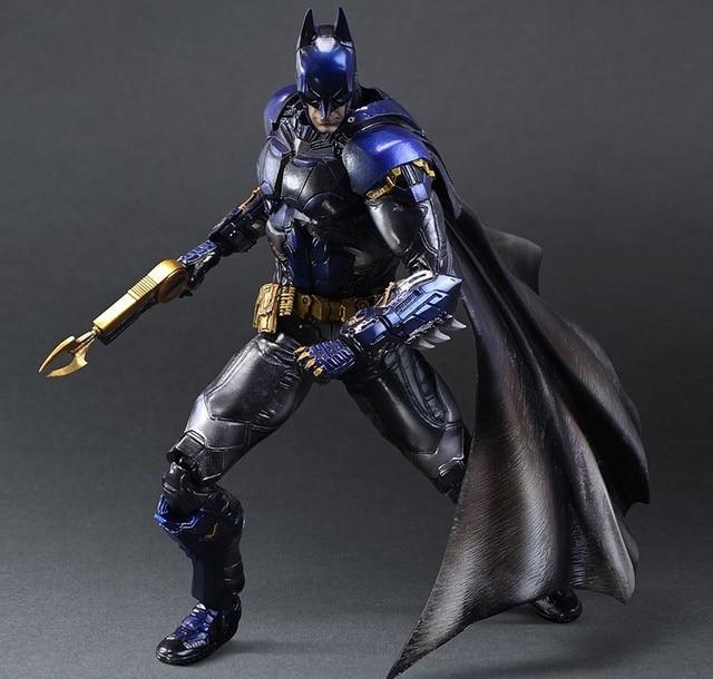 Play Arts Kai Bat Man Bat-man Figure Bruce Wayne Boy Wonder Blue Edition 27cm Play Art PVC Action Figure Doll Toys Kids Gift