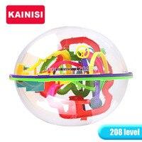 20.5 سنتيمتر 208 خطوات 3d لغز الكرة السحرية الفكر الكرة ألعاب تعليمية لغز القدرة التوازن iq المنطق لعبة للأطفال الكبار