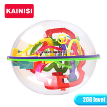 20.5CM 208 Steps 3D puzzle Ball Magic Intellect Ball educational toys Puzzle Balance IQ Logic Ability Game For Children adults