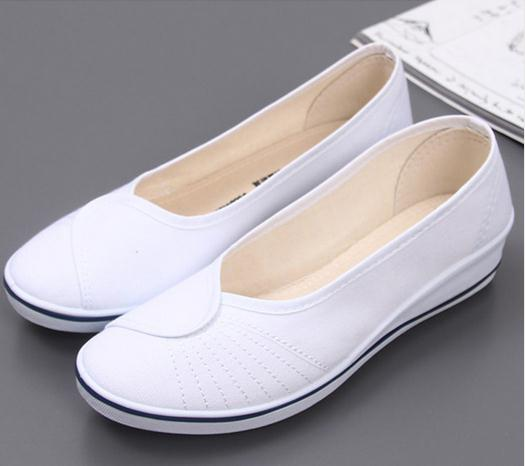 women shoes White female nurse shoes with slope work Dichotomanthes end beauty hospital dance canvas shoes size 34--41