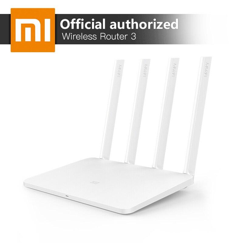 Xiao mi mi Sans Fil WiFi Routeur 3 Anglais Version 867 Mbps WiFi Répéteur 4 Antennes 2.4g/5 ghz 128 mb ROM Double Bande APP Contrôle