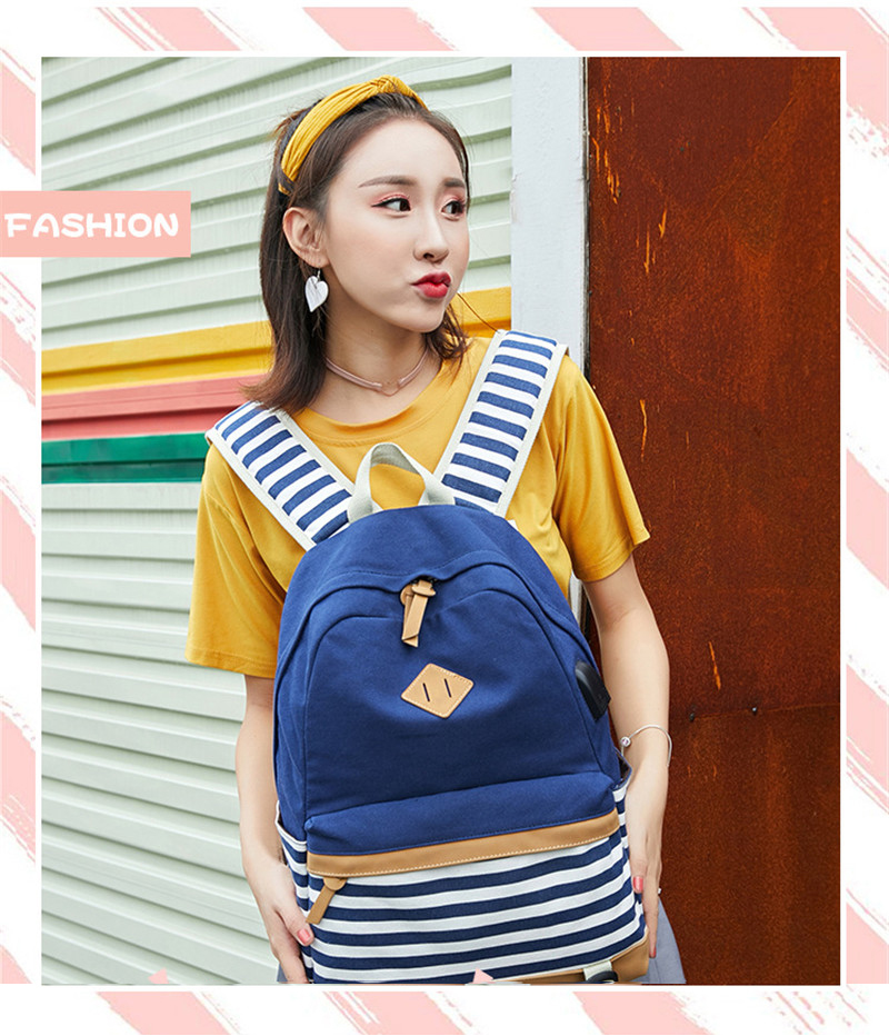 HTB1o2LpXorrK1RkSne1q6ArVVXaC Hot Sale Canvas Backpack Women School Bags for Girls Large Capacity USB Charge Laptop Backpack Travel Rucksack for Teenagers
