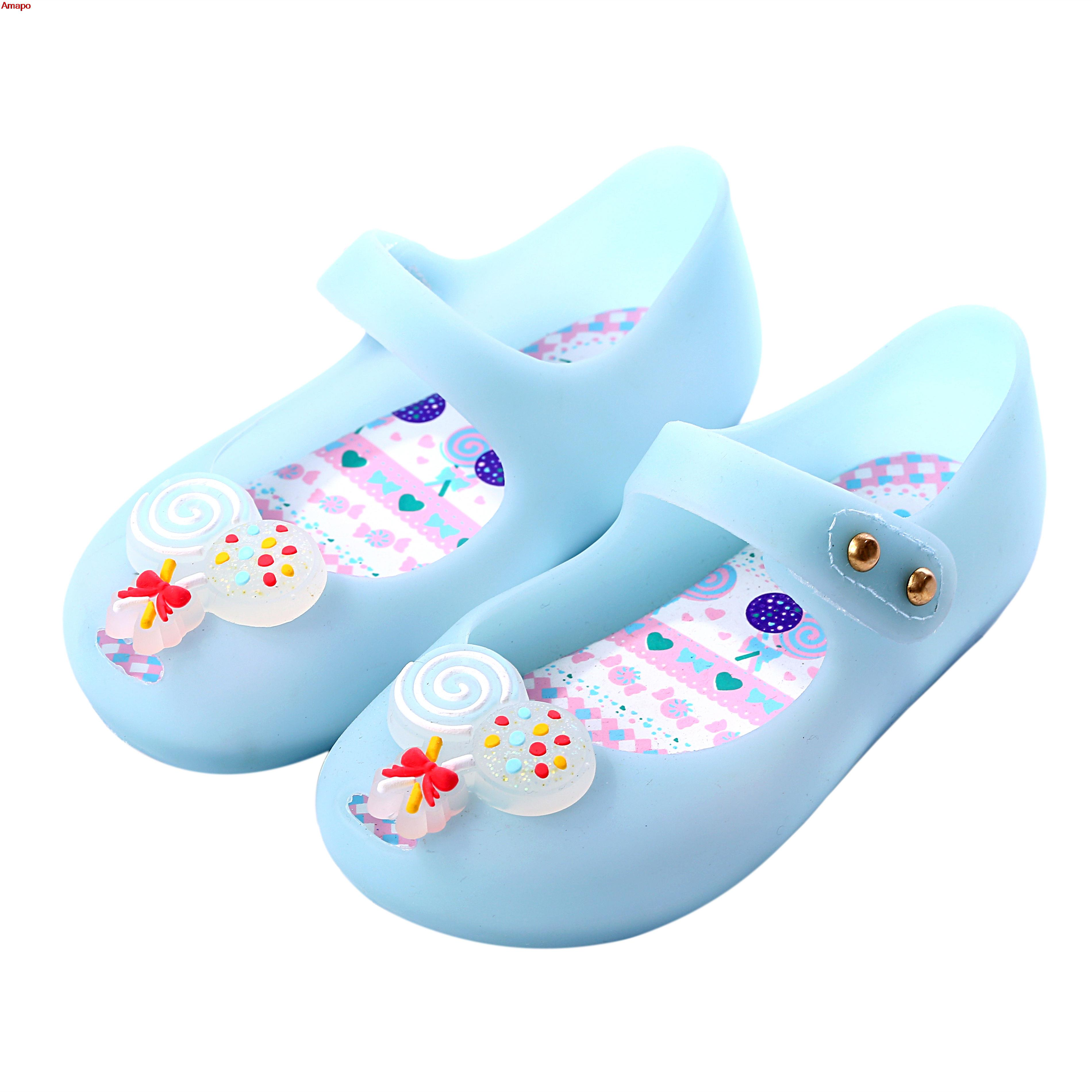 Melissa New Style Girls Sandals Mini Candy Cute Style Baby Shoes Jelly Soft Insole Pvc Shoe Sugar Modle