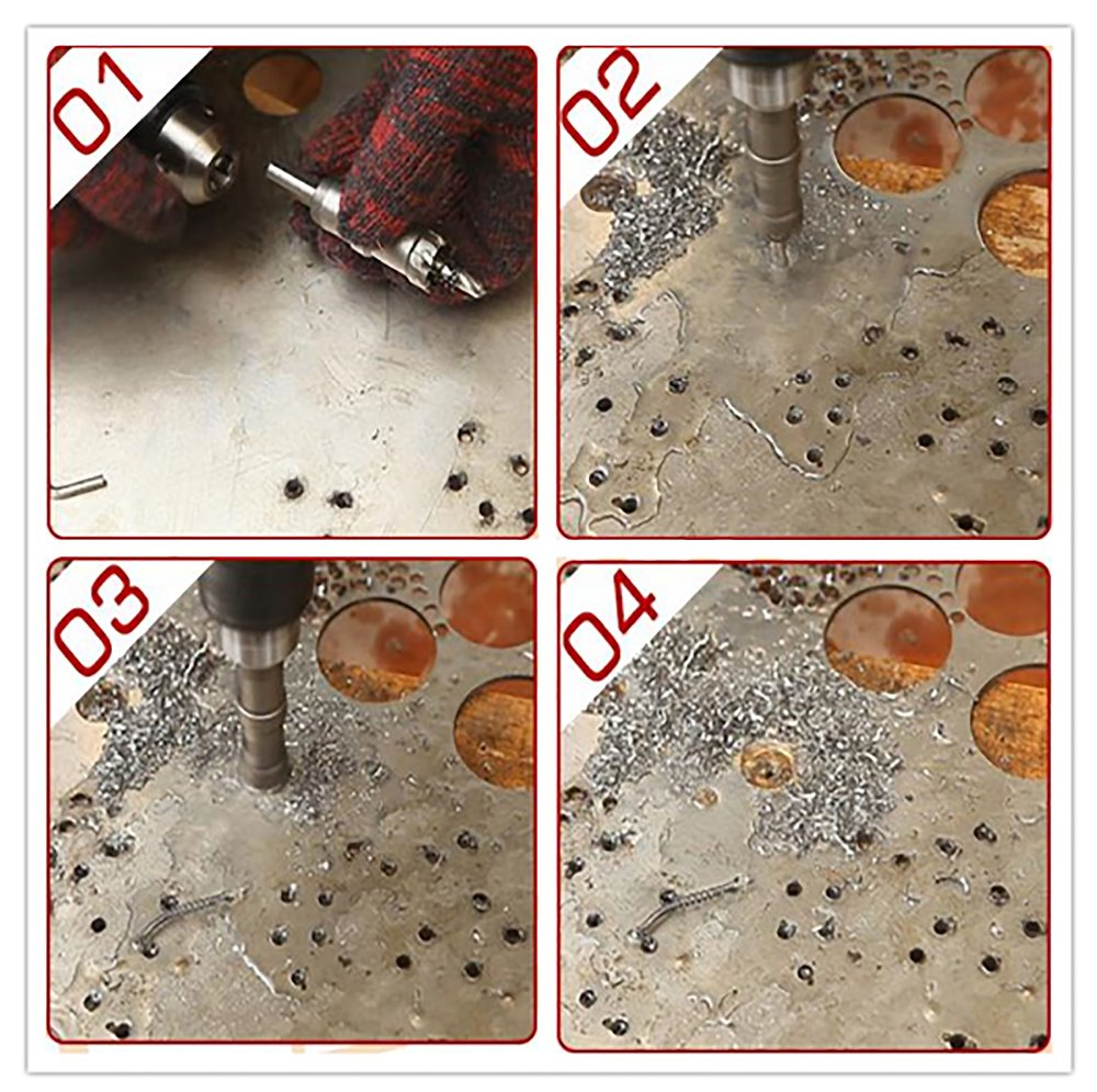 35mm Core Drill Bit Metal Hole Saw Hard Tungsten Steel Alloy Cutter - Broca - foto 5