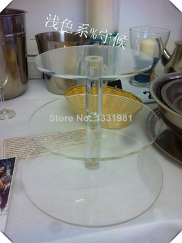 3 Tier Clear Desk Perspex Cup Cake Stand Rack Wedding Decoration
