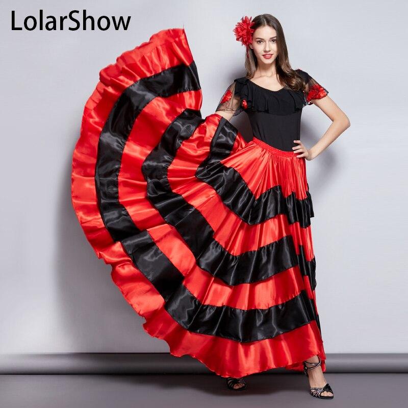 c020f9206 Falda de Flamenco clásico español traje de la danza de los gitanos vestido  Flamenco