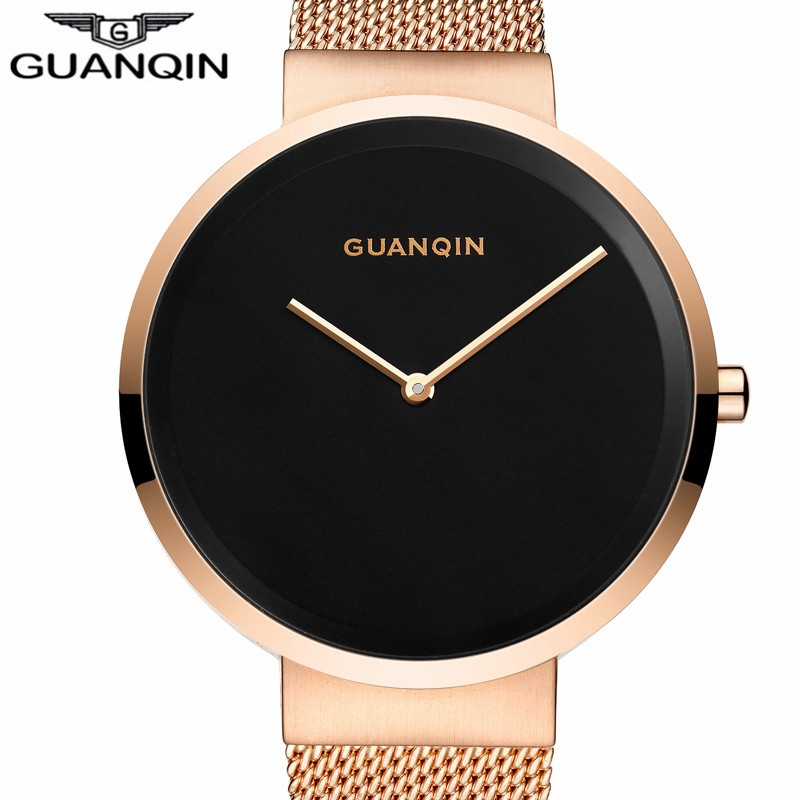 Ultra Thin Men's Watches New Guanqin Luxury Brand Watch Men Simple Design Wristwatch Fashion Quartz Male Watch Relogio Masculino new listing men watch luxury brand watches quartz clock fashion leather belts watch cheap sports wristwatch relogio male gift