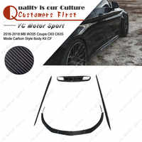 Kit de cuerpo de fibra de carbono 6 uds ajuste para 2016-2018 MB W205 Coupe C63 C63S MC estilo labio frontal falda lateral difusor trasero