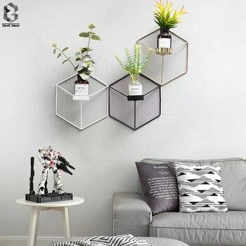 Eenvoudige Stijl 3D Geometrische Kandelaar Metalen Nordic Muur Kandelaar Blaker Bijpassende Kleine Theelichtje Scandinavische Thuis Ornamenten
