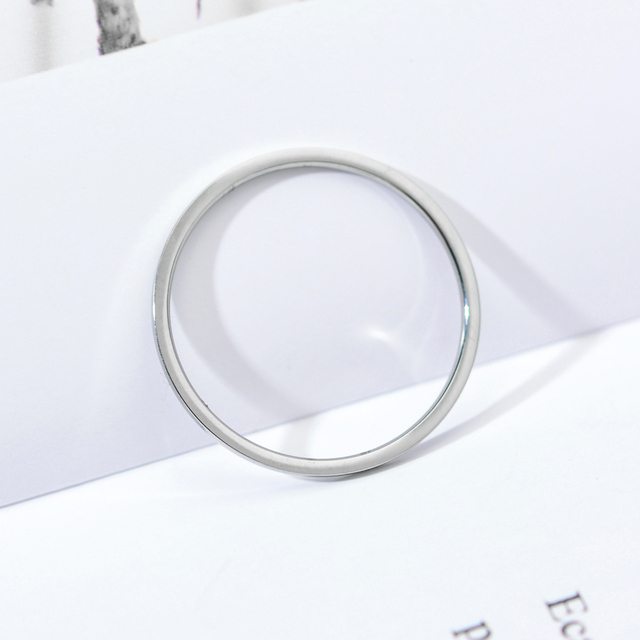 ZMZY Round Rings For Women Thin Stainless Steel Wedding Ring Simplicity Fashion Jewelry Wholesale bijoux 1mm 4