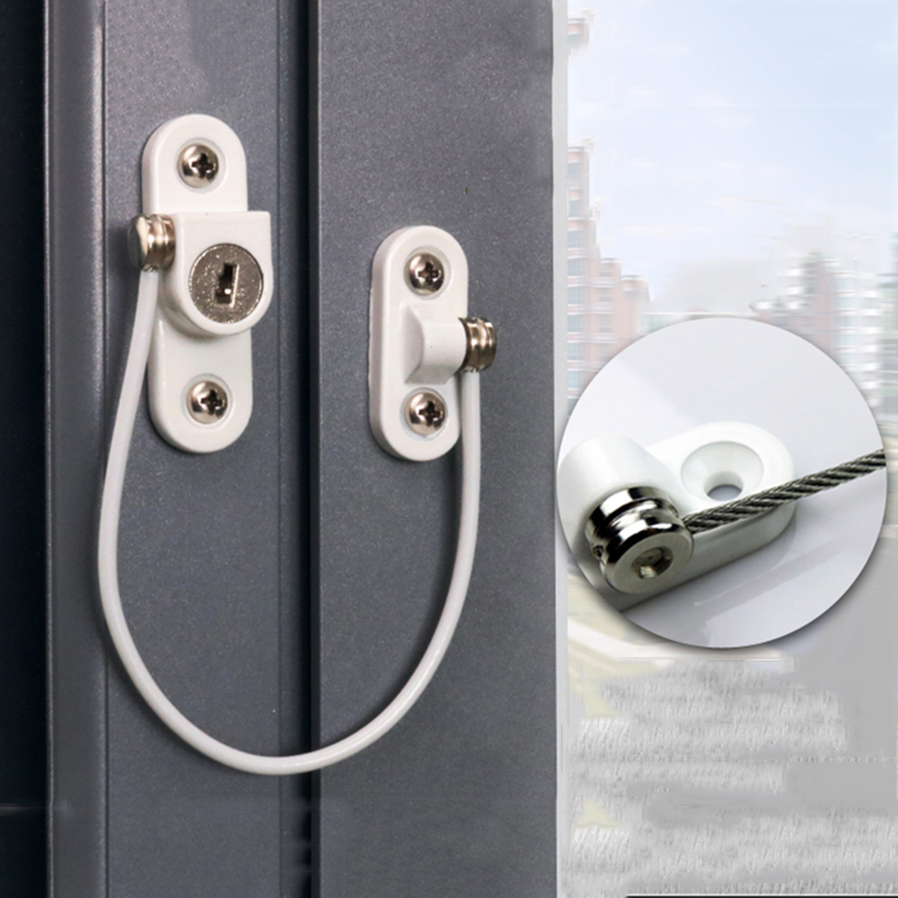 Baby Safety Locks Stainless Steel Window Security Chain Lockers Kids Anti Falling Window Lock Children Safety Cabinet Latches