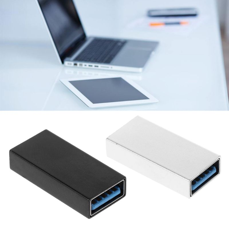 1pcs USB 3.0 Coupler Female To Female Adapter Gold-Plated Super Speed USB 3.0 Coupler Extender Connection Converter