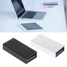 USB 3.0 Coupler Female to Female Adapter Gold-Plated Super Speed USB 3.0 Coupler Extender Connection Converter
