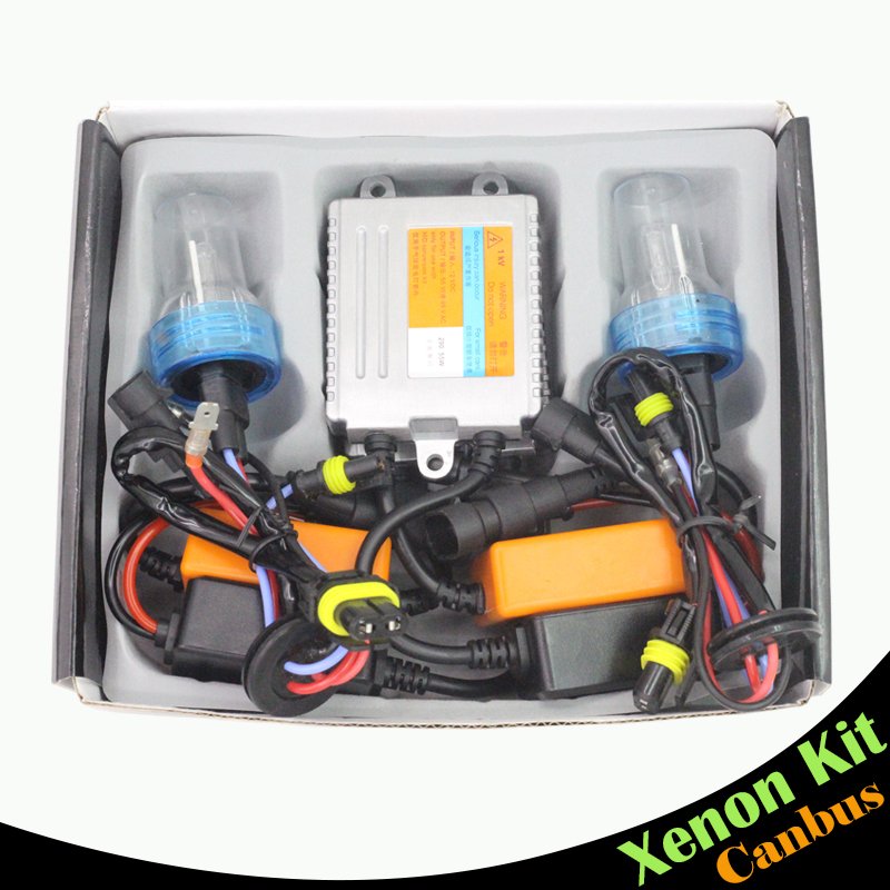 Cawanerl 880 881 55W Canbus Ballast Bulb HID Kit AC Xenon Headlight Error Free 3000K-8000K Car Headlamp Fog Light DRL 55w silver hid xenon kit slim ballast 880 4300k replacement headlight new [cpa248]