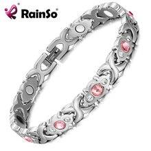 Женский браслет rainso из нержавеющей стали с блестящими кристаллами