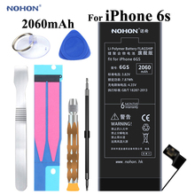 NOHON Battery For Apple iPhone 6S 6GS 2060mAh Replacement Lithium Bateria + Package Free Tools for iPhone6S i Phone 6s Batteries