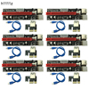 6PCS 3 In 1 4pin Molex PCI E Mining Card 6pin Riser SATA 60cm PCIE 1x