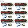 6PCS 3 In 1 4pin Molex PCI E Mining Card 6pin Riser SATA 60cm PCIE 1x