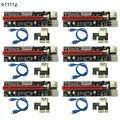 6 шт. 3 в 1 4pin Molex PCI-E Mining Card 6pin Riser SATA 60 см PCIE 1x to 16x PCI Express Riser Card для Antminer Bitcoin Miner