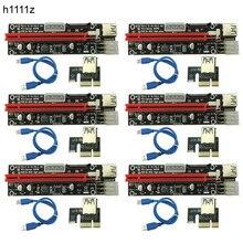 6 PCS 3 em 1 4pin Molex PCI-E Mineração 60 centímetros PCIE 1x a 16x Riser Cartão 6pin SATA PCI express Card Riser para Antminer Bitcoin Mineiro