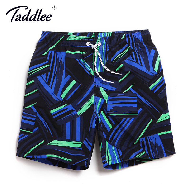 Taddlee Brand Men's   Board   Beach   Shorts   Boxer Trunks Quick Drying Swimwear Swimsuits Swimming Bottoms Sports Running   Shorts   2017