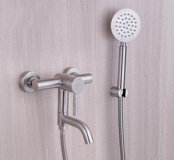 Wall Mounted Bathroom Bathtub Shower Mixer Tap stainless steel Hot Cold shower Chuveiro Torneira BF063