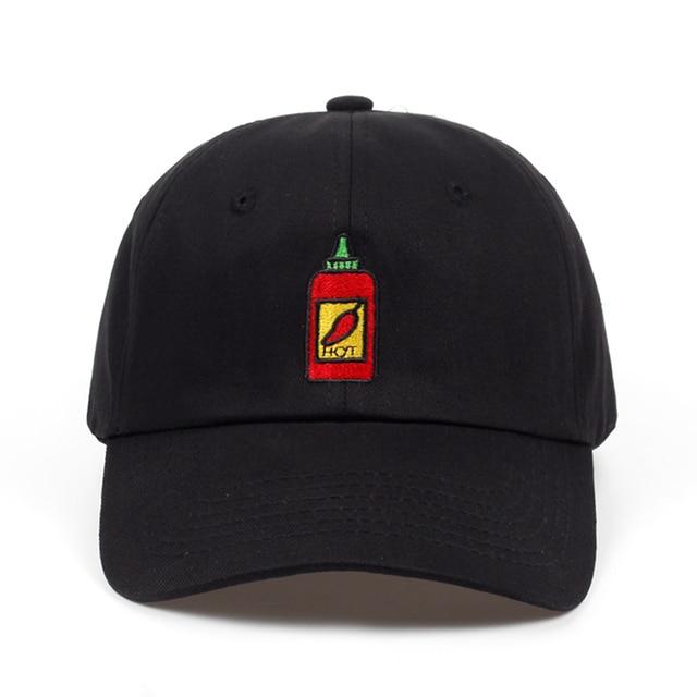 751b7208c 2018 Hot Sauce Bottle Dad Hat Embroidered Curved Adjustable Baseball Cap men  women brand snapback Hip-hop Summer cap hats