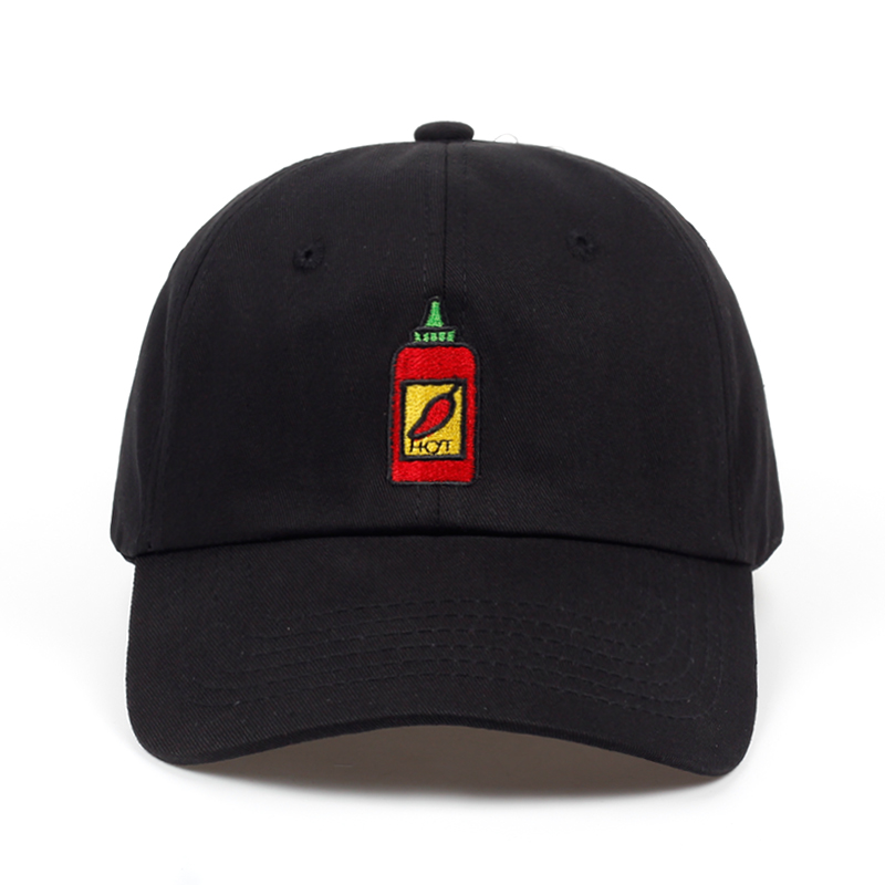2018 Hot Sauce Bottle Dad Hat Embroidered Curved Adjustable   Baseball     Cap   men women brand snapback Hip-hop Summer   cap   hats