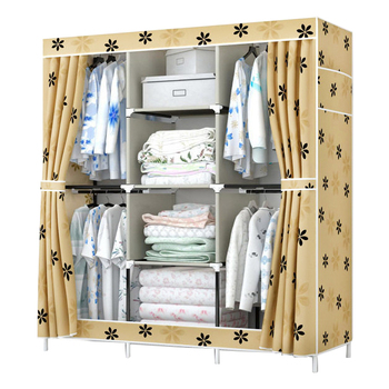 цена на FREE shipping Oxford cloth Wardrobe Closet Large And Medium-sized Cabinets Simple Folding Reinforcement Receive Stowed Clothes