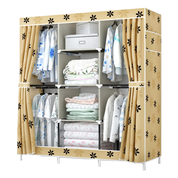 FREE shipping Oxford cloth Wardrobe Closet Large And Medium-sized Cabinets Simple Folding Reinforcement Receive Stowed Clothes