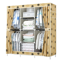 FREE shipping Oxford cloth Wardrobe Closet Large And Medium sized Cabinets Simple Folding Reinforcement Receive Stowed Clothes
