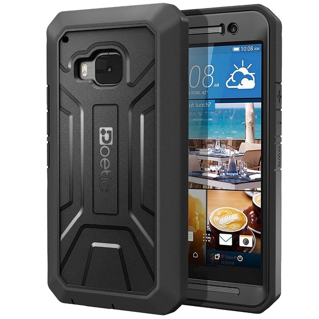 Joylink Black Armor Phone Case For HTC One M9, Defender Dual Layer Rugged Hybrid Mobile Phone Cover for htc m9 Case