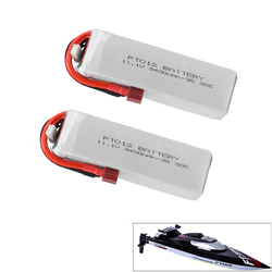 Upgraded Rc lipo Battery FT012S 11.1V 3400MAH 30C 3S Replacement Li-po Battery for Feilun FT012 RC Boat