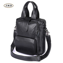 J.M.D New Arrivals Genuine Leather Black Handbag For Notebook Laptop Versatile Business Shouder Bags Portable Bag 7266A