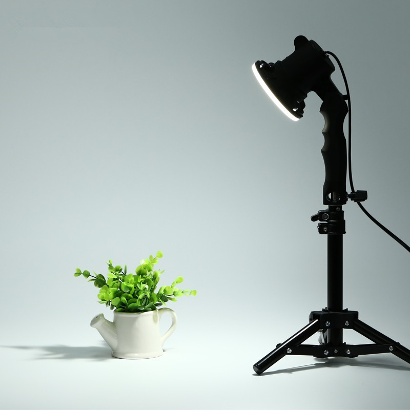 CY 1 pcs shoot photo lamp LED lamp photography studio light bulb portrait soft box fill light lights bulb and 37CM light stand