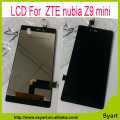 100% Test  Black For ZTE Nubia Z9 mini LCD display touch screen digitizer assembly replacement part + tools For ZTE NX511J