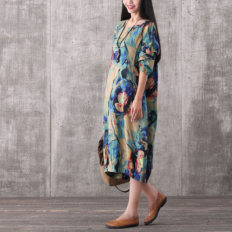 Long Sleeve Maternity Dress For Pregnant Women Clothes Print Floral Vestidos Gravidas Lady Dress Pregnancy Dresses Autumn
