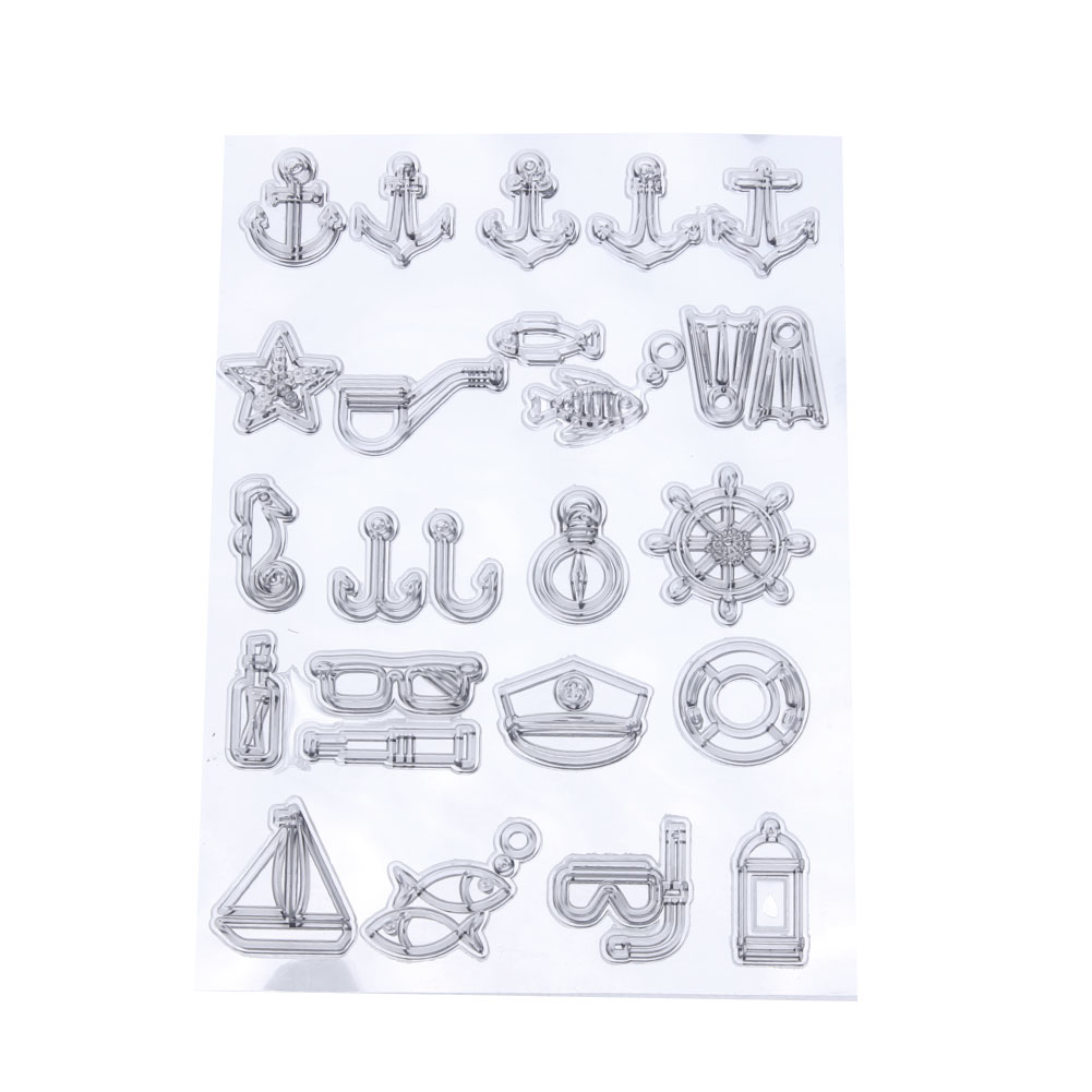 New Design 16*12 cm Transparent Clear Stamps for Scrapbooking DIY Silicone Seals Card Photo Album Making Scrapbook Decorations