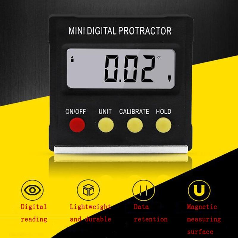 360 Graus Mini Digital Transferidor Inclinometer Nível Eletrônico Display Digital Ferramenta de Medição Transferidor Base Magnética