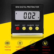 360 Degree Mini Digital Protractor Inclinometer Electronic Level Digital Display Protractor Magnetic Base Measurement Tool merchandise display base 360 degree electric rotary table display for photography 25cm automatic revolving platform handicraft