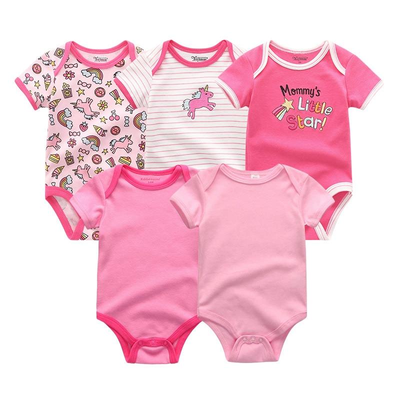 HTB1o2OFeRKw3KVjSZFOq6yrDVXap 5PCS/LOT Unisex Top Quality Baby Rompers Short Sleeve Cottom O-Neck 0-12M Novel Newborn Boys&Girls Roupas de bebe Baby Clothes