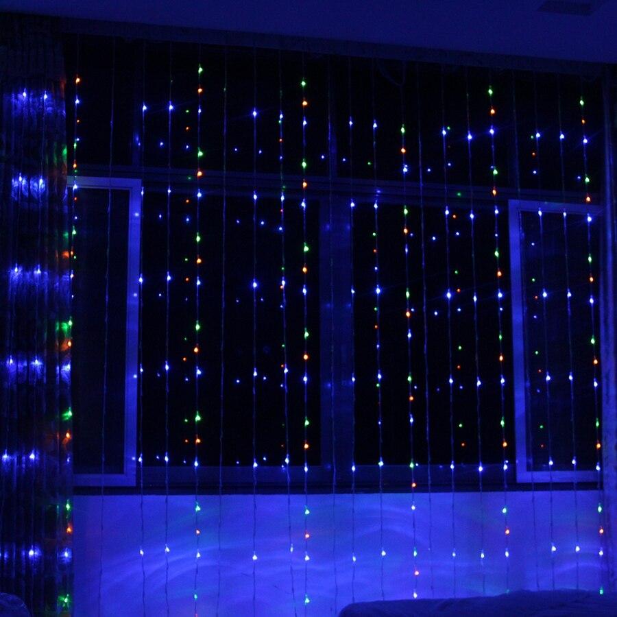 Thrisdar 6X3 M 768 LED numérique cascade rideau glaçon LED chaîne guirlande 16 Mode cheval course fond fée chaîne lumière